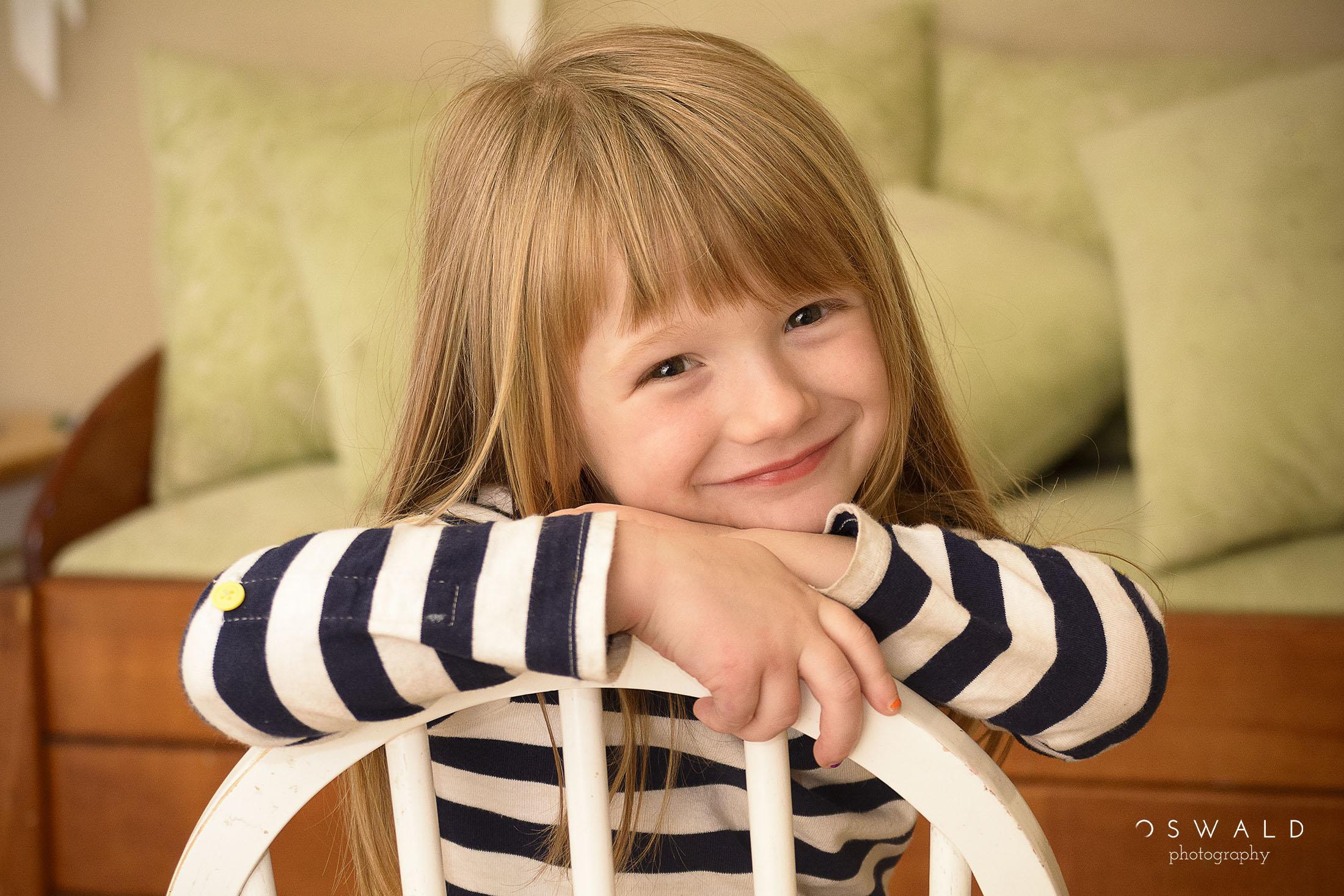 Portrait of a beautiful blond child (female)