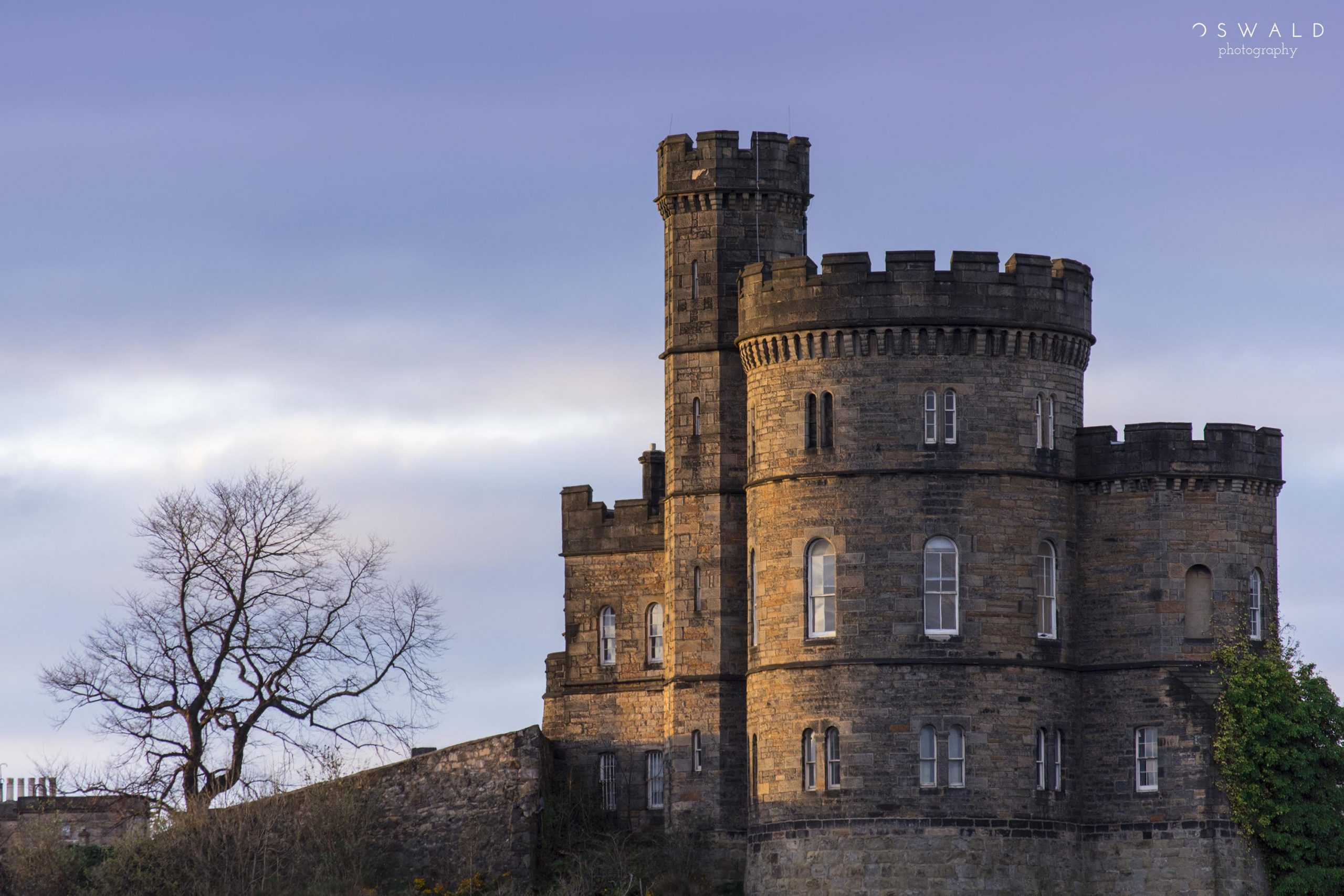 Photography of the Governor's House of Old Calton Jail on Calton Hill in Edinburgh, Scotland