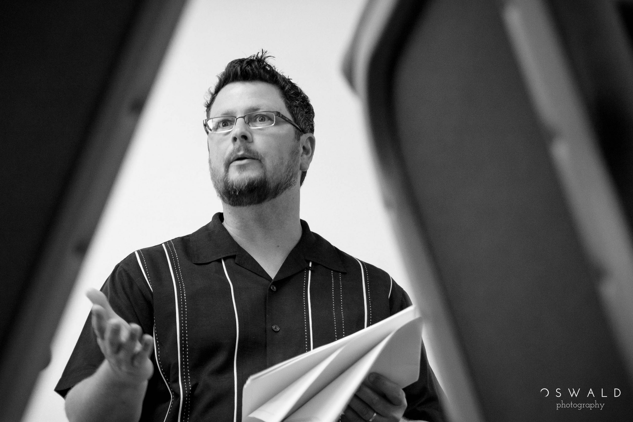 A photography of Professor Chad Hall teaching a coaching class at Western Seminary