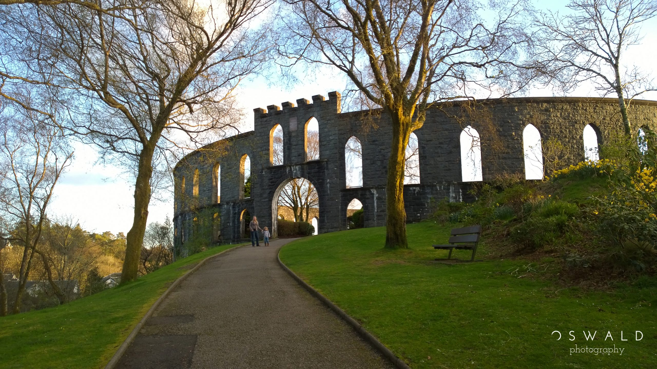 A photography of McCaig's Tower in Oban, Scotland.