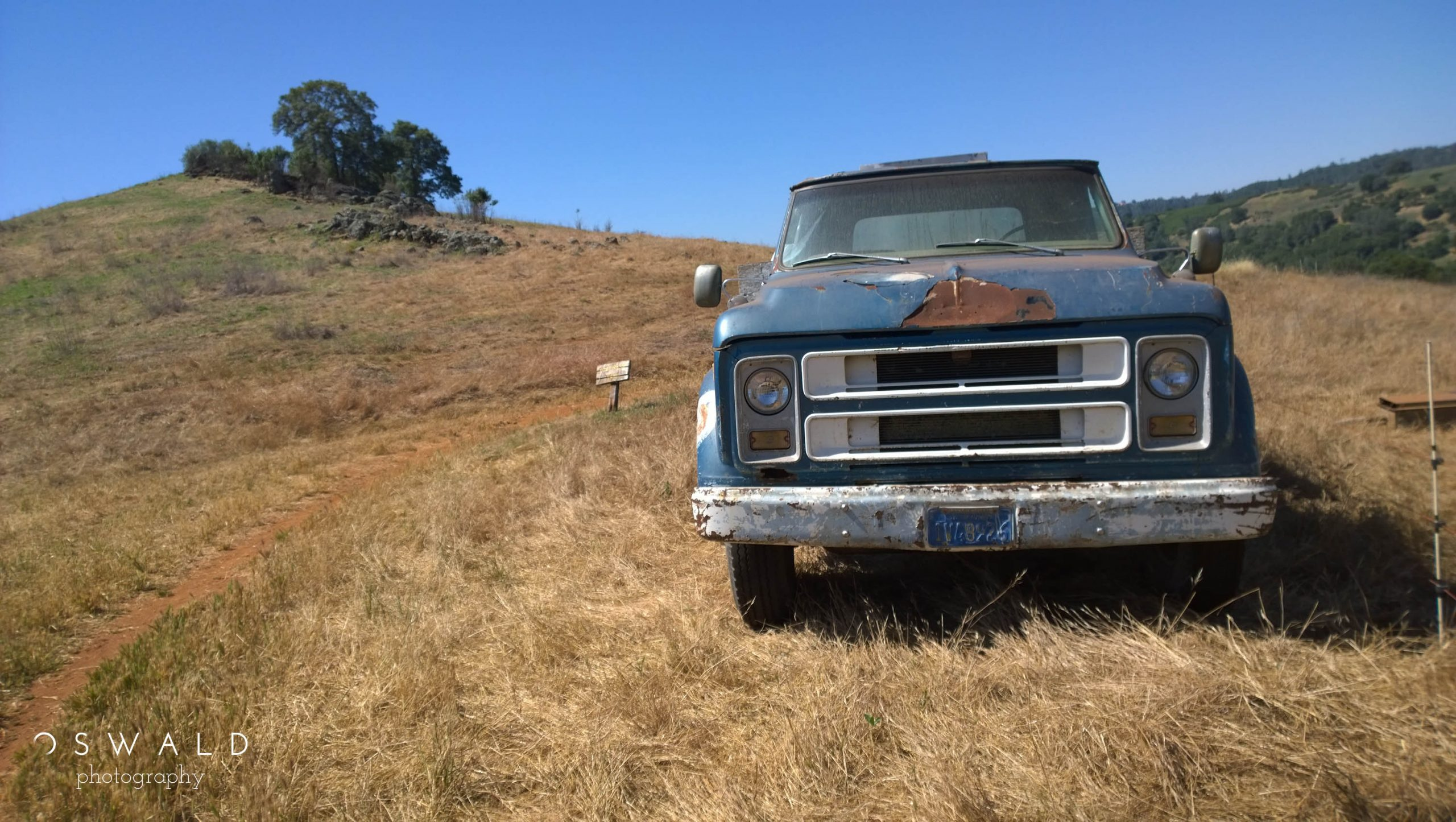 Photograph of a beat up old Chevrolet truck at Cronan Ranch Regional Park in Northern California.