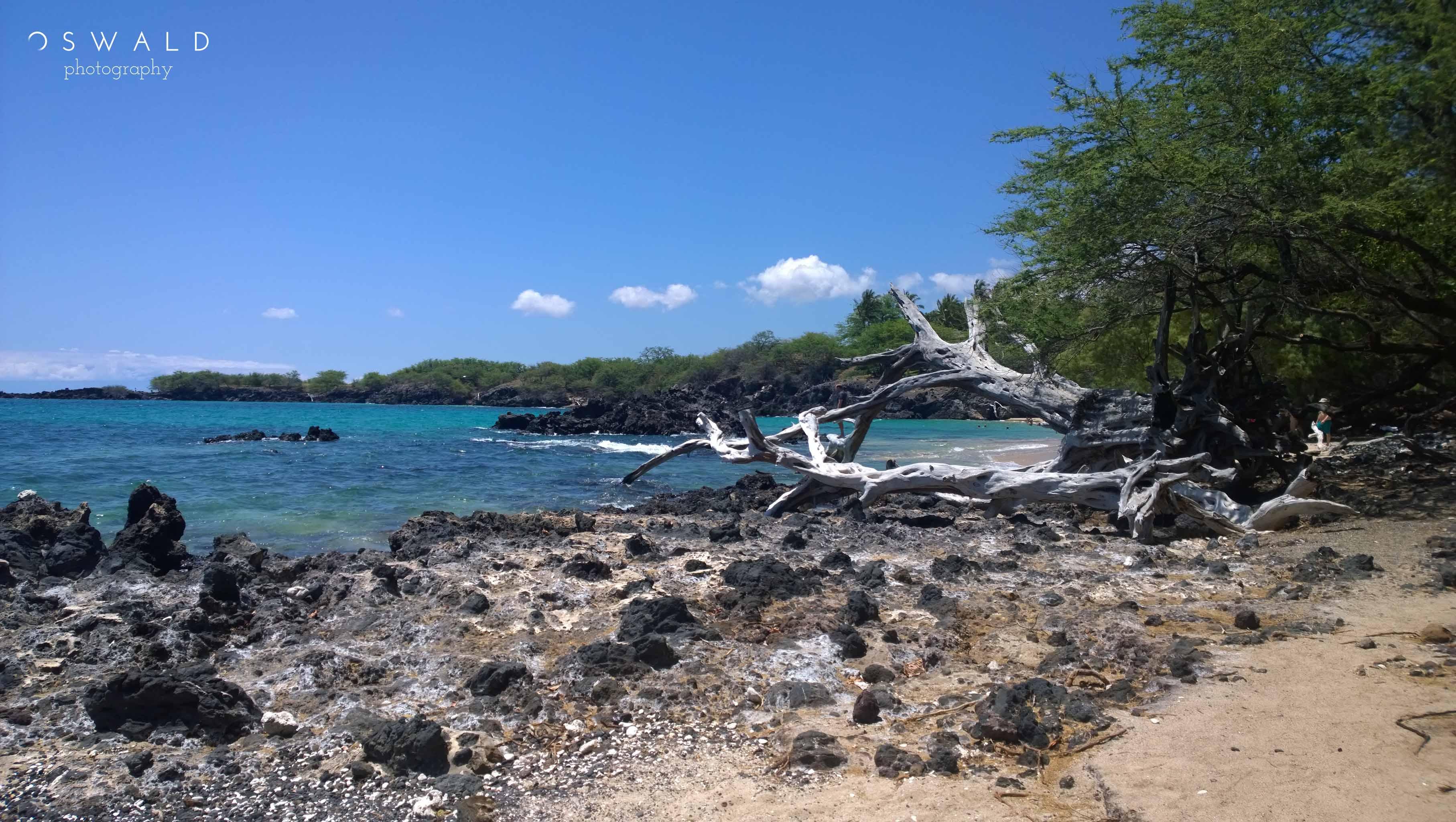 A landscape photo of Hapuna Beach on the Big Island of Hawaii.