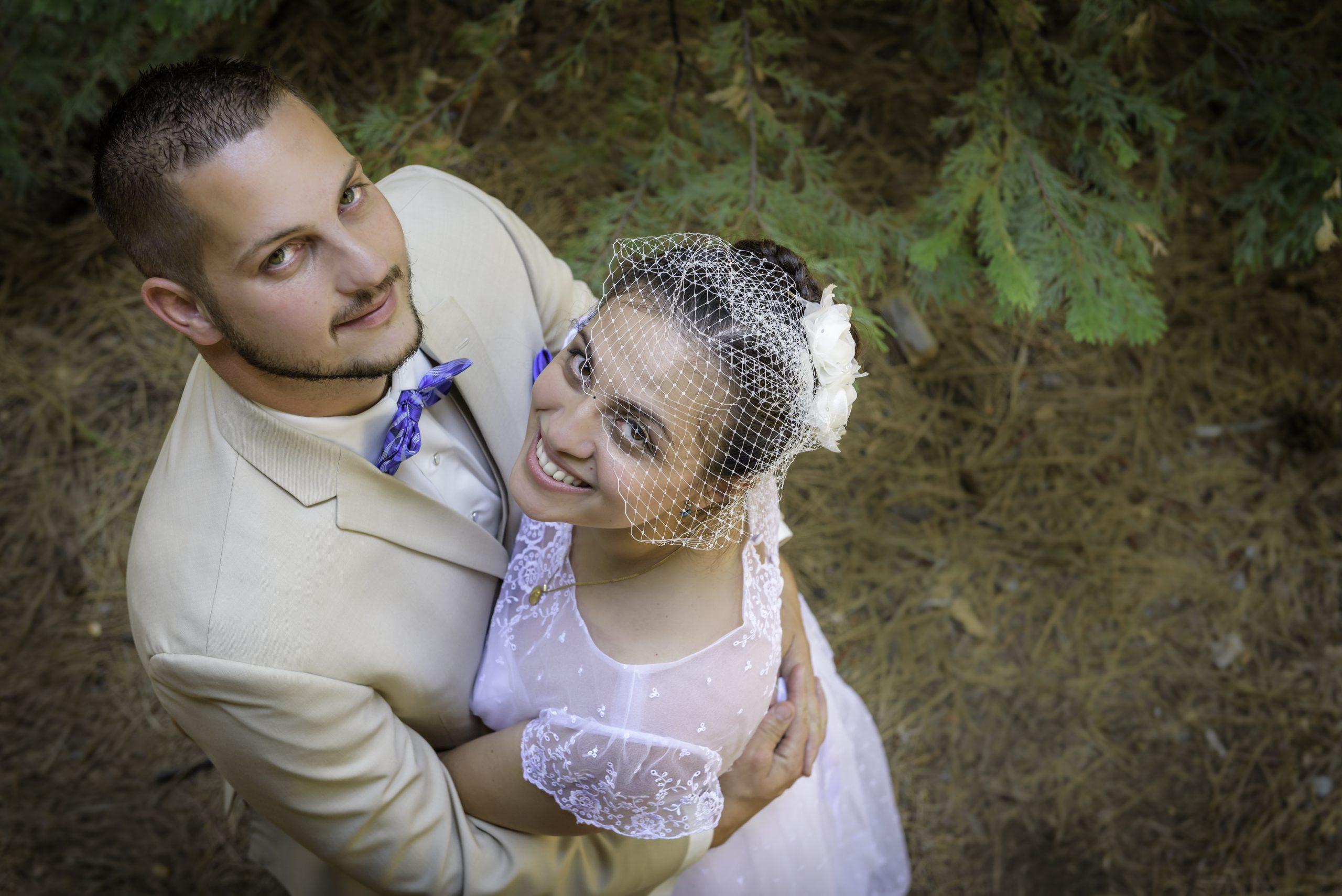 Overhead photography of Luke and Erika