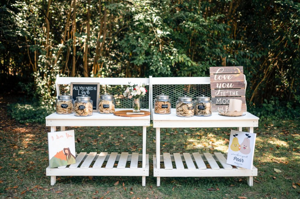 Cookie bar at an Ardenwood Historic Farm wedding