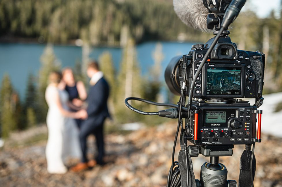 Filming a Carr and Feeley Lakes Elopement
