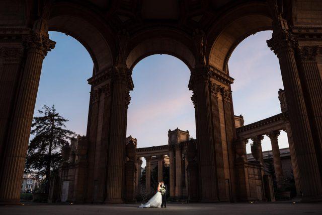Catholic wedding at the Palace of Fine Arts