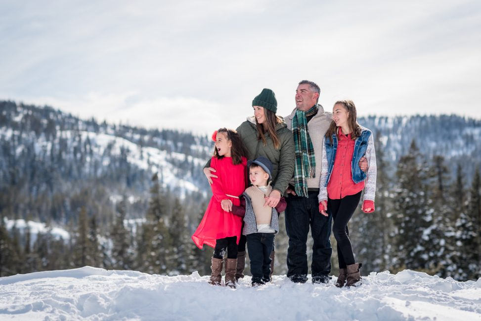 Family Portrait in the snow in Emmigrant Gap, CA