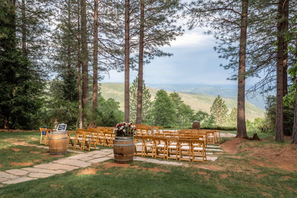 Grand Sierra Pointe during a Forest House Lodge Wedding