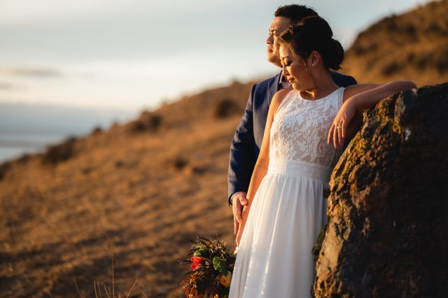 Intimate wedding at Coyote Hills Regional Park