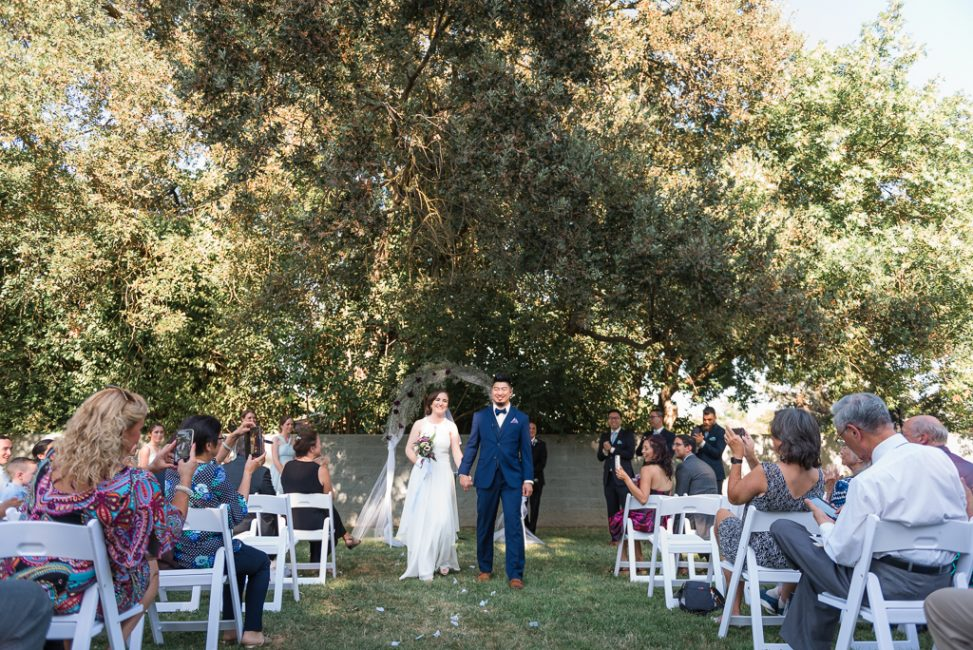 Exterior photo of an outdoor wedding ceremony
