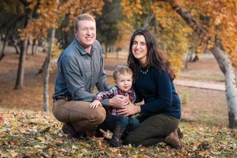 Fall Family Portrait at Jensen Botanical Gardens