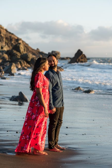 Muir Beach engagement photography
