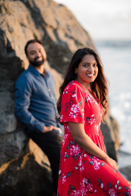 Engagement photos at Muir Beach in Northern California