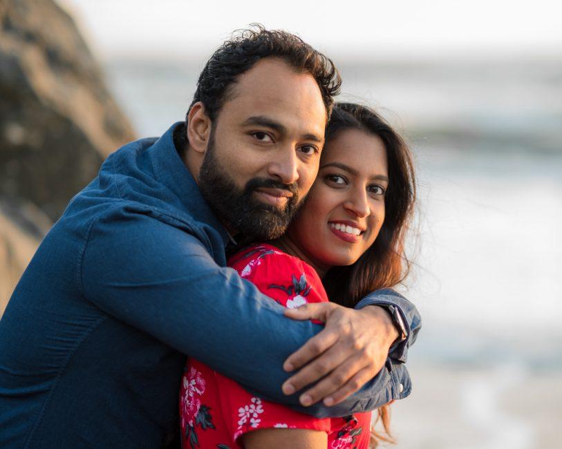 Cuddling closely at Muir Beach