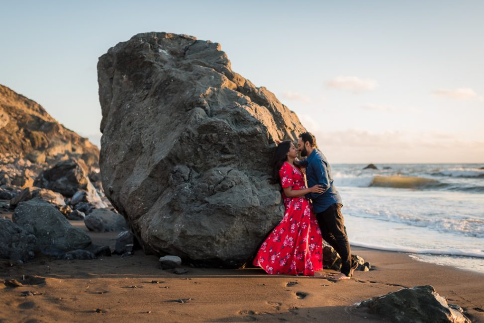 Muir Beach engagement photo session