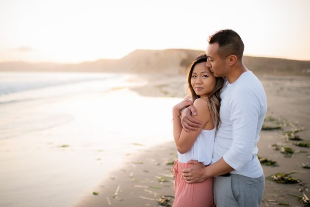Point Reyes engagement session at Drake's Beach