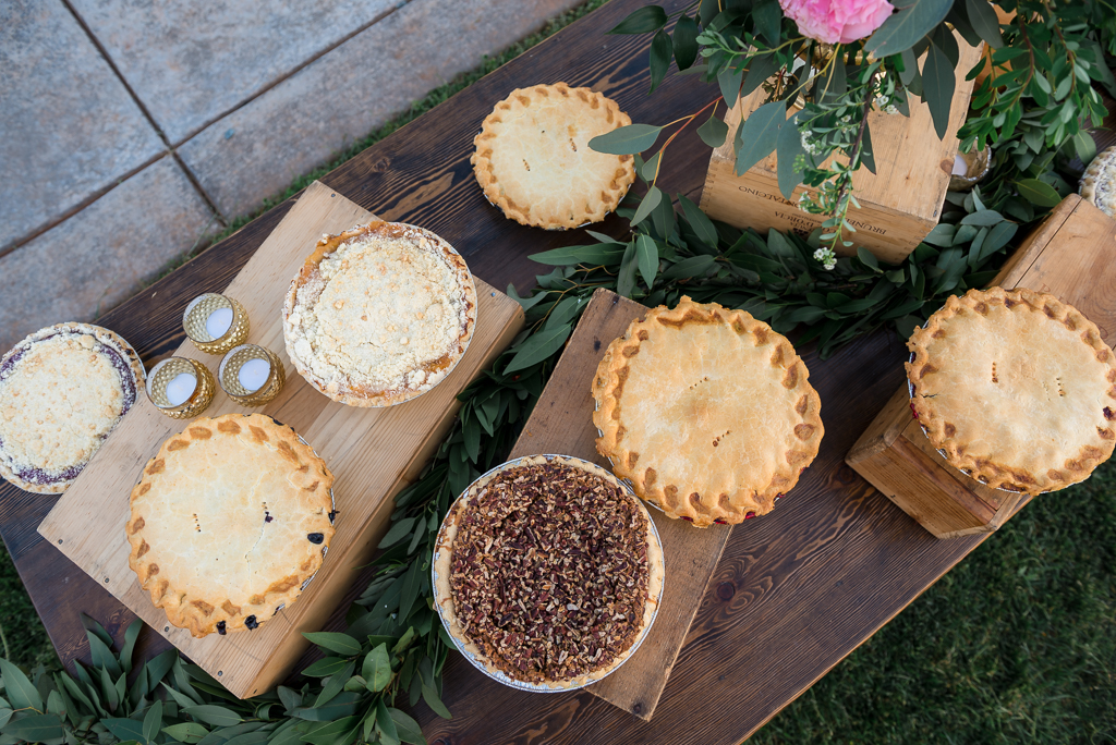 Wedding Pies at a country wedding
