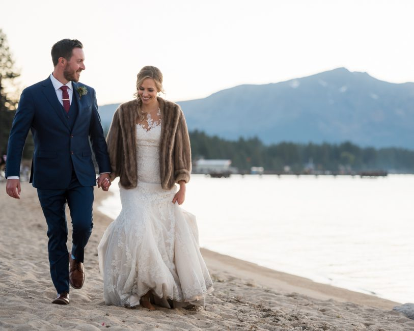 Wedding photos at an intimate wedding in South Lake Tahoe