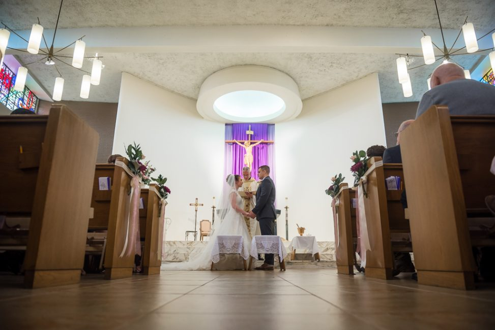 A wedding takes place at St. Ignatius Loyola Parish in Sacramento.